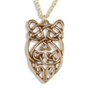 Owl knot hanger brons SJBZP-60