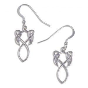 Figure of 8 knot earrings silver SJ-JSE15