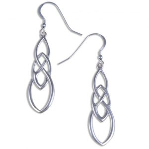 Linked knot earrings silver SJ-JSE19