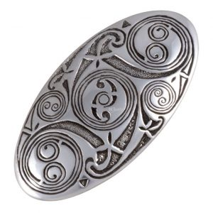 Lindisfarne spirals oval hair slide SJ-PH04