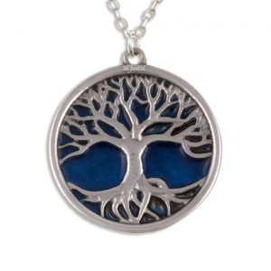 Tree of Life pendant with blue enamel SJ-PN842
