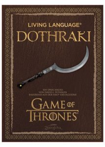 Game Of Thrones Living Language: Dothraki