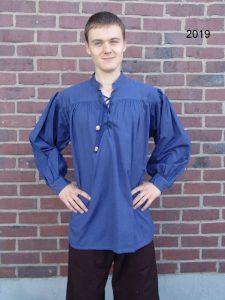 Mittelalter Blouse Blau