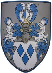 Middeleeuws Wapenschild - Hand Beschilderd - deko