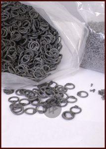 Maliënkolder Ringen, pakket a 1 kg, ronde ring, aluminium