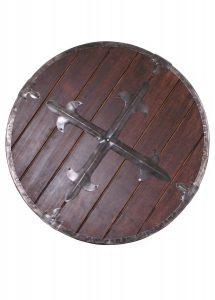 Wikinger Rundschild aus Holz mit Stahlbeschlägen