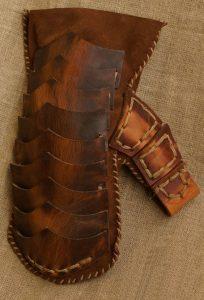 Viking Lederen Gevechtshandschoenen