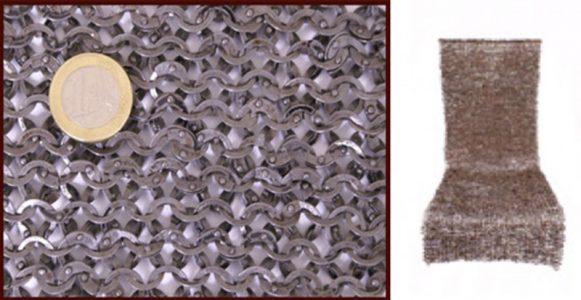 Malien hemd platte geklonken ring, 8mm
