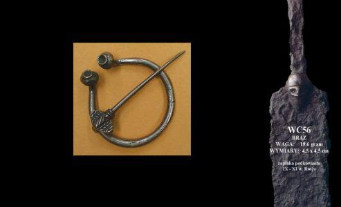 Viking Fibula Rusland 9e-11e eeuws Brons