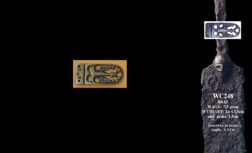 Viking Riemtong Brons, Anglo-Saxon, England, 10 - 11e eeuws