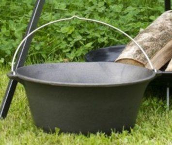 Middeleeuwse - Goulash - Glühwein - Gietijzeren pan 16 liter