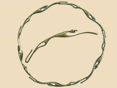 Keltische Halsring 100-200 c.Ch. Zilver