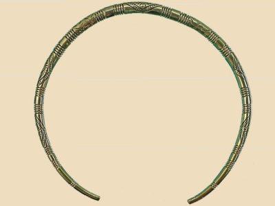 Keltische Halsband Brons