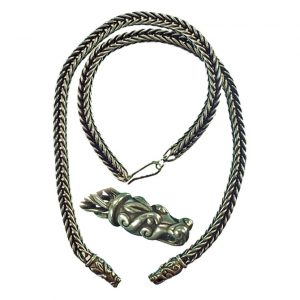 Viking Ketting 55cm Zilver