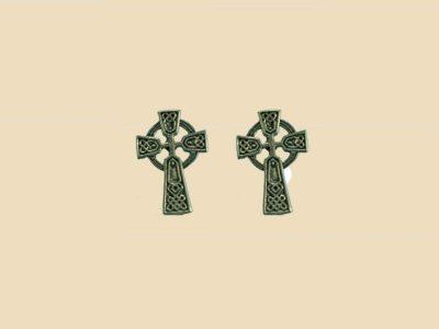 Keltisches Kreuz Ohrstecker Silber