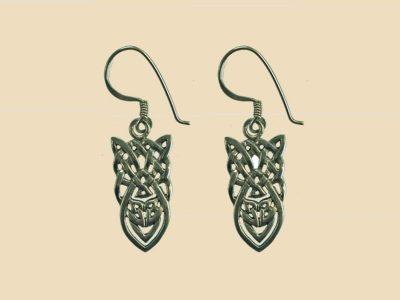 Keltische Knoten Ohrringe Silber