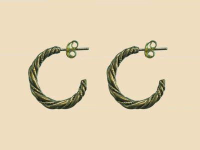 Viking oorbellen Brons