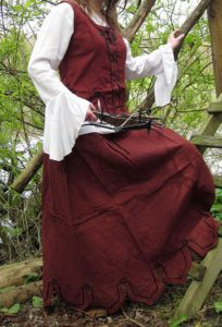 Middeleeuwse Dames Rok Rood