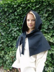 Middeleeuwse Kaproen Zwart
