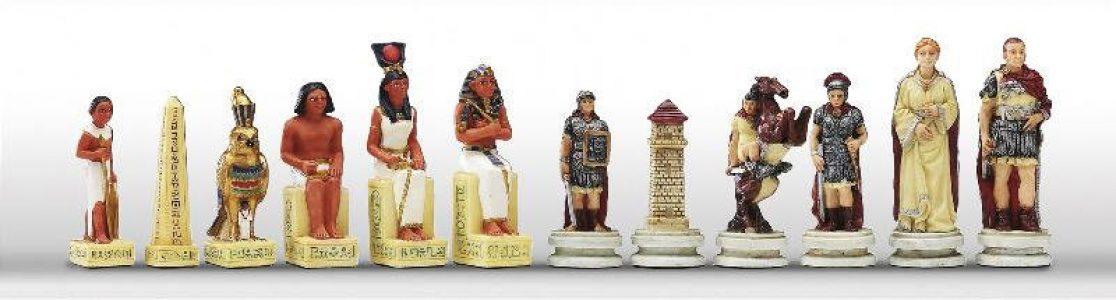 Romeinen tegen Egypte Schaakstukken
