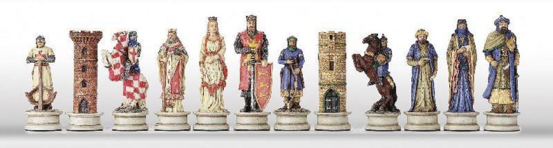 Kreuzritter Schachfiguren