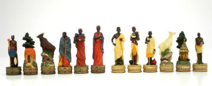 Masai Stam Schaakstukken