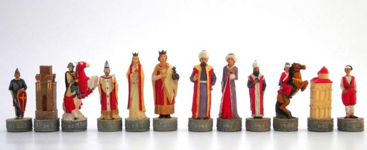 Kreuzfahrer gegen die Turken Schachfiguren