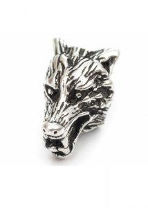 Baardkraal Viking Wolfvenkop Zilver