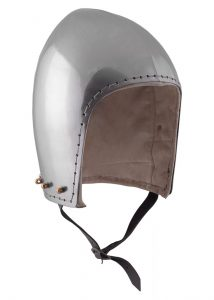 Bascinet helm 14e eeuws.