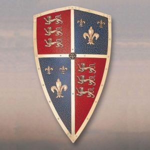 Black Prince Schild mit Lowen und Fleur de Lille