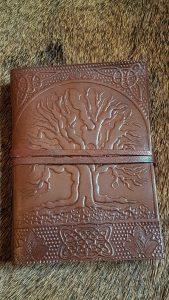Lederen Boek met Handgeschept papier met Levensboom