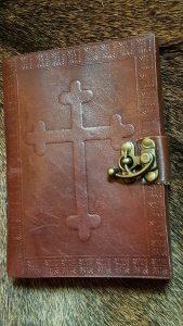 Lederen Boek met Handgeschept papier