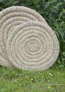 Traditionelle Strohscheibe, rund, 65 cm Durchmesser