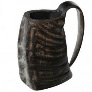 Horn Bierkrug aus Büffelhorn