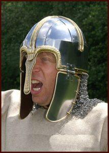 Viking Coppergate Helm met geklonken malien 8e eeuws