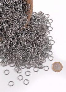 3 kg Maliën Ronde Ring Verzinkt 9 mm, 1.6 mm dik