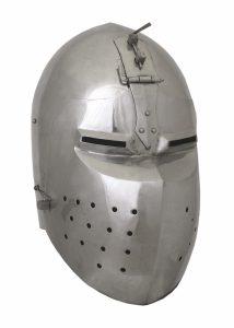 Bascinet met Klapvizier 14e eeuws in maat M