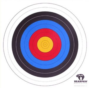 Zielscheibenauflagen, 10 Stück, 60 cm.
