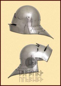 Sallet Helm 15e eeuws in M, L