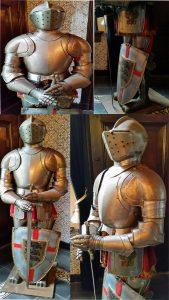Mittelalter Ritter Rustung alt.replic.