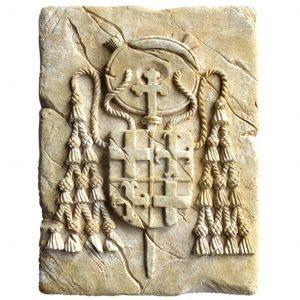 Kardinal Wappen aus Stein 20x15cm