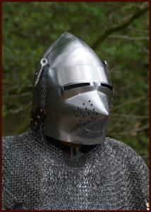 Hondekop - Varkenssnuit Helm ca. 1390 in S,M en L.