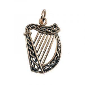 Ierse Harp Hanger Brons Klein