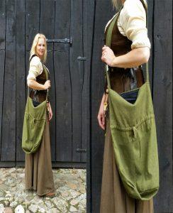 Middeleeuwse Dikke Katoenen Draagzak