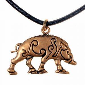 Keltische Everzwijn Hanger Brons