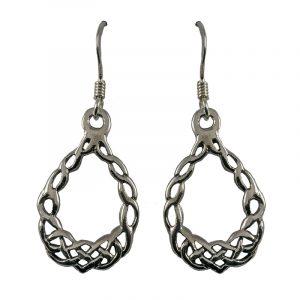 Keltische Knotwork-Ohrringe Silber