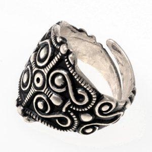 Keltische Ring Verzilvert