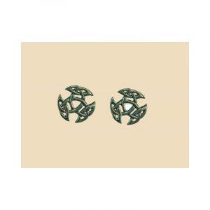 Keltische open Triad oorbellen Zilver
