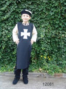 Kinder Wapenrok Zwart met Wit Kruis