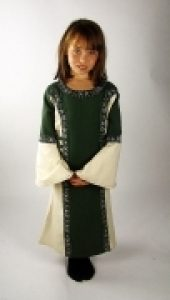 Mittelalter Kinder kleid Grun/natur